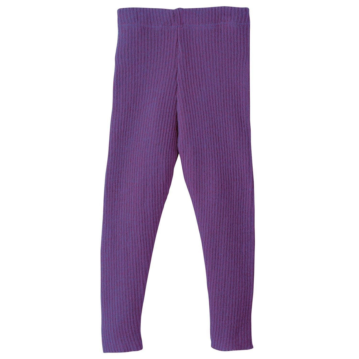 Image of   Disana bukser / leggings i strik - Blomme