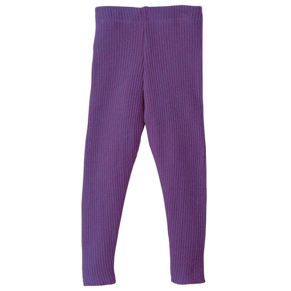 Disana bukser / leggings i strik - Blomme