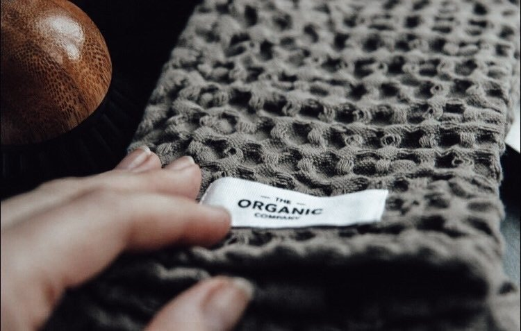 The Organic Company karklud, Big Waffle - Dark Grey