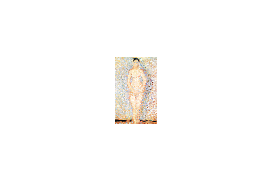 Poseur Standing Front View Study - Georges Seurat