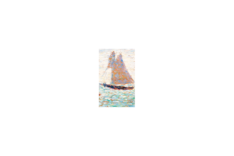 Two Sailboats at Grandcamp - Georges Seurat