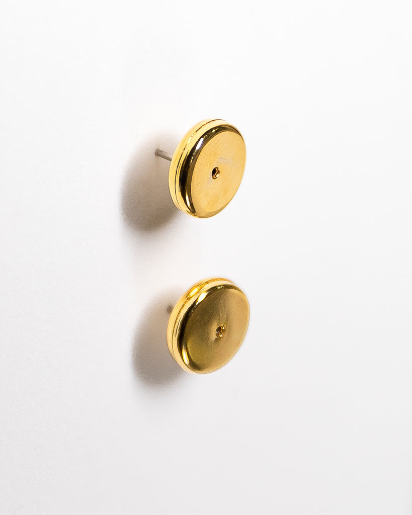 The Minimal - Circular Studs (18K Gold/Rhodium Silver)