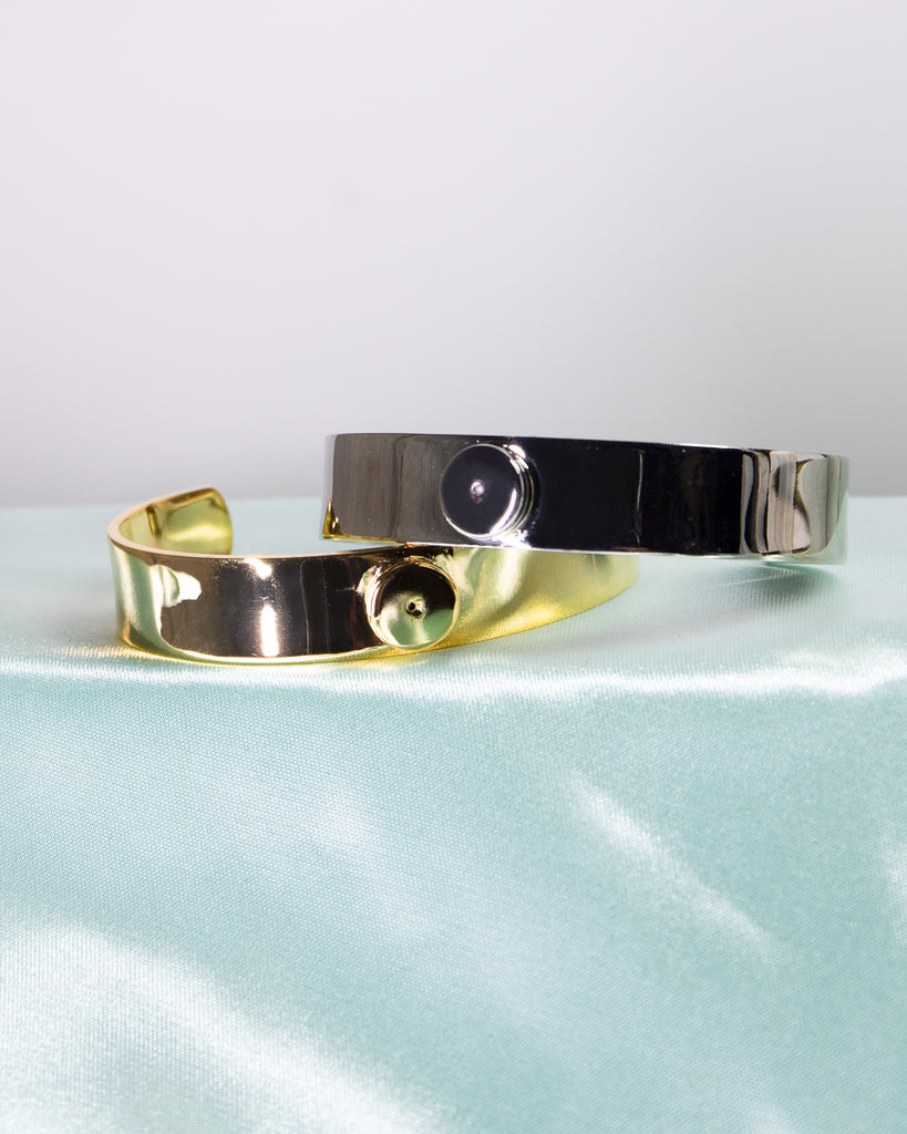 The Minimal - Bold Is Beautiful Cuff (18K Gold/Rhodium Silver)