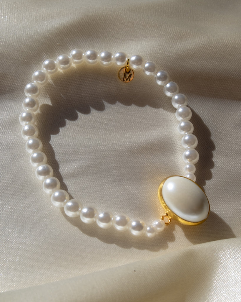 The Elastic - Pearl Bead Bracelet