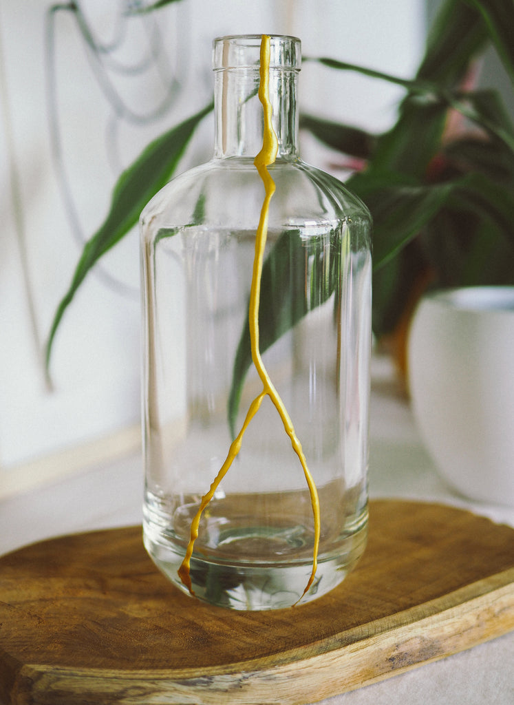 Repair Cracked Glass Vase With Kintsugi