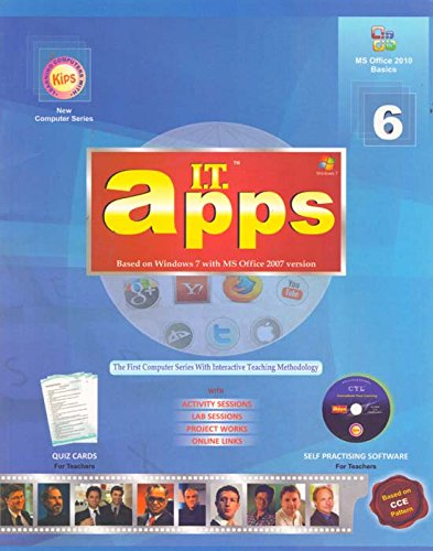 I.T.Apps Class 6 Paperback – 2016 by Unknown (Author) - ey-estopper
