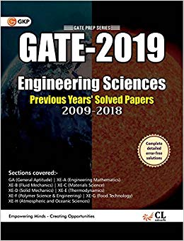 GATE 2019 - ENGINEERING SCIENCES - SOLVED PAPER 2009-2018 (SECTION WISE) PAPERBACK – JUL 2018 - ey-estopper