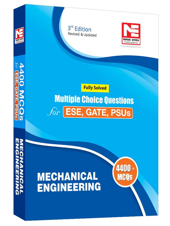 Mechanical Engineering - 4400 MCQs for ESE, GATE & PSUs (Fully Solved) - ey-estopper