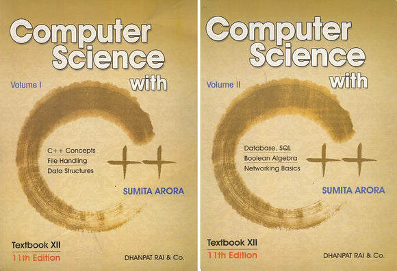 Computer Science With C++ (Set of 2 Volume) by Sumita Arora (2019-2020 Session) for Class 12 Paperback – 2017 by Sumita Arora - ey-estopper