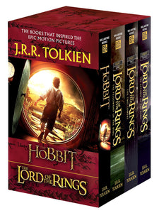 J.R.R. Tolkien 4-Book Boxed Set:LORD OF RINGS AND HOBBIT SERIES - ey-estopper
