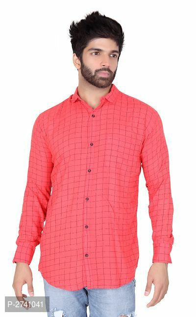 Solid Colored Checked Shirts For Men - ey-estopper