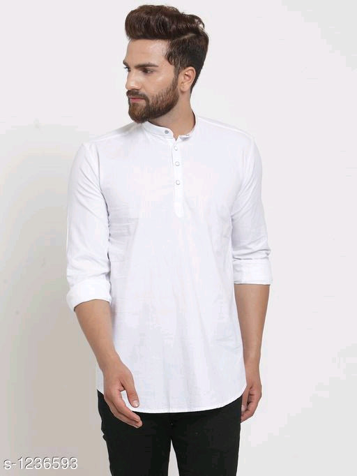 Men's Fashion Cotton Solid Short Kurtas Vol 3 - ey-estopper