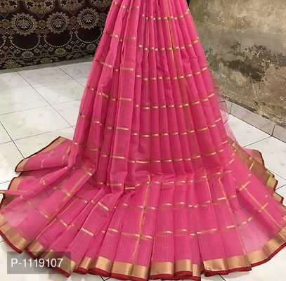 Pink Color Doriya Cotton Saree - ey-estopper