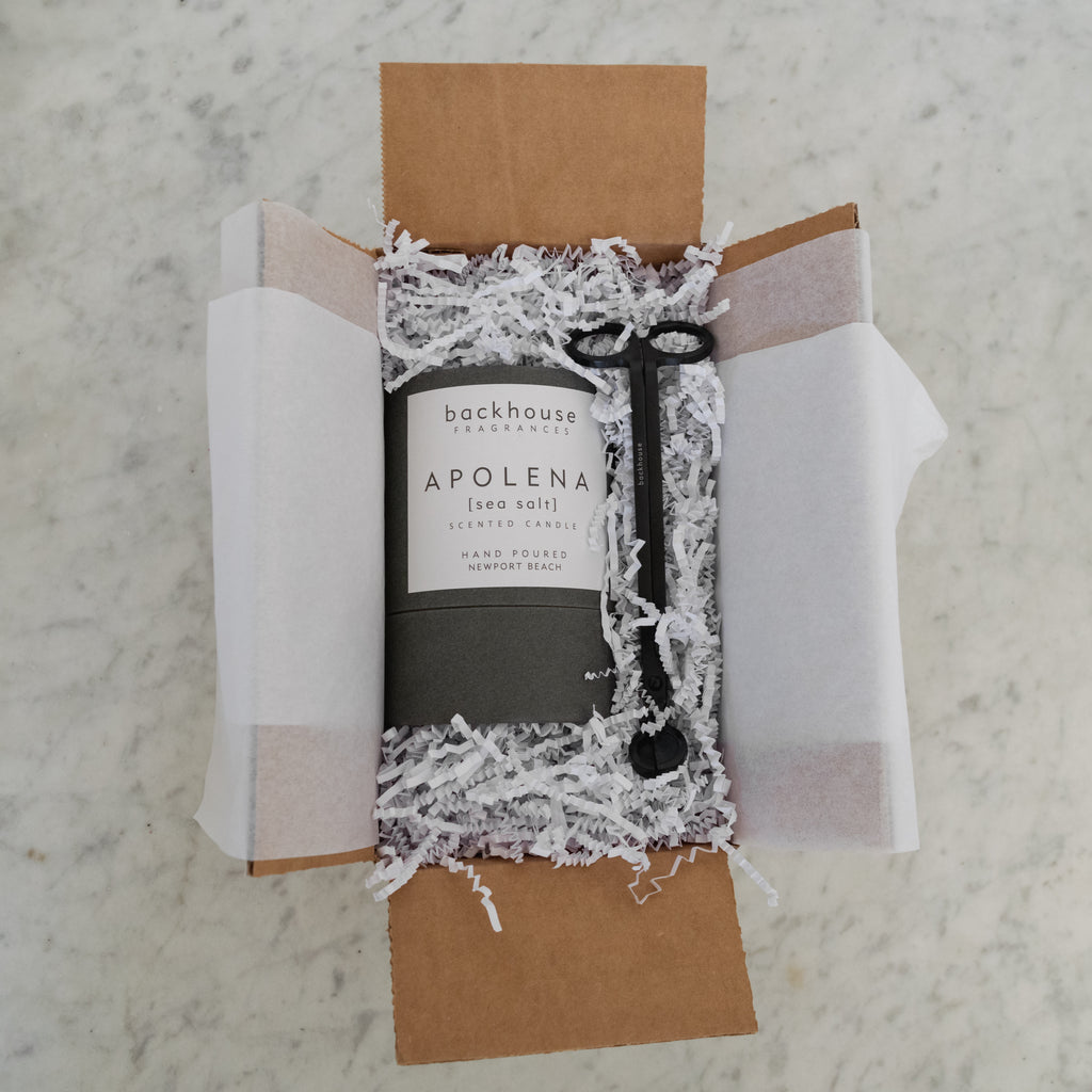 Hurricane Gift Box - Candles + Wick Trimmer