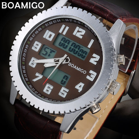 military watches w/leather band - 30M waterproof