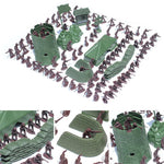 100PCS Military toy Combat Men with battle positions
