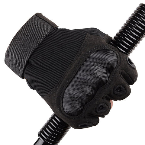 Tactical Fingerless Gloves Military Armed Combat Carbon Knuckle Half Finger Gloves