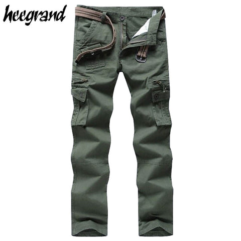 Military Style Trousers Multi-pockets