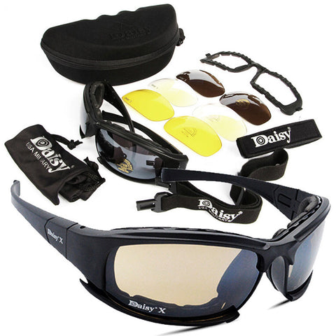 4 Lens Military Sunglasses