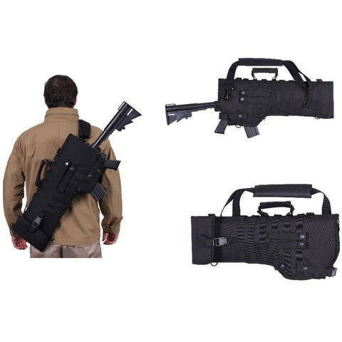 Tactical Rifle Scabbard Gun Case/Military Shoulder Carry Bag