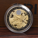 USA Sniper Coins Army Gold Plating Commemorative Coins