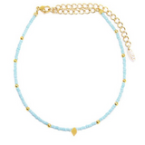 Camp Collection Diamond Choker in Blue and Gold
