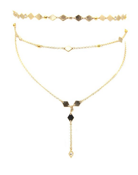 Daring Adventure Choker in Gold