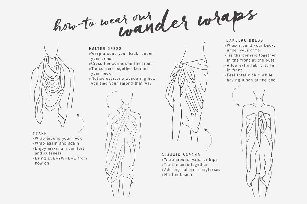 SHINE: Wander Word Wraps/Scarves