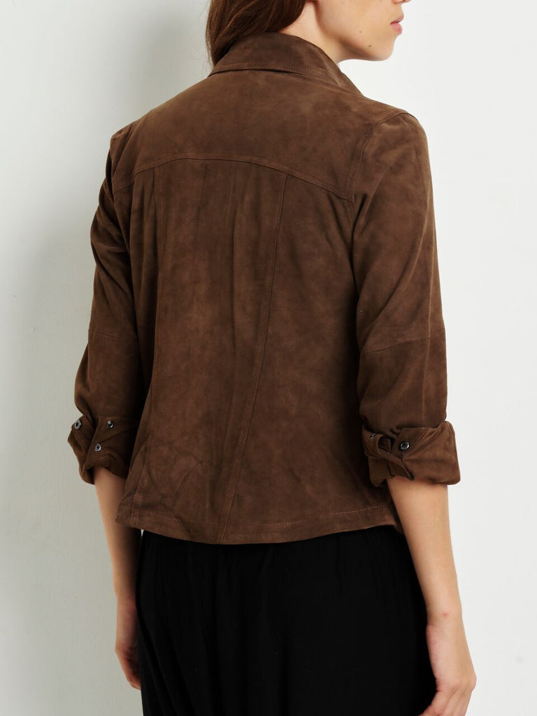 Jada Suede Button Down