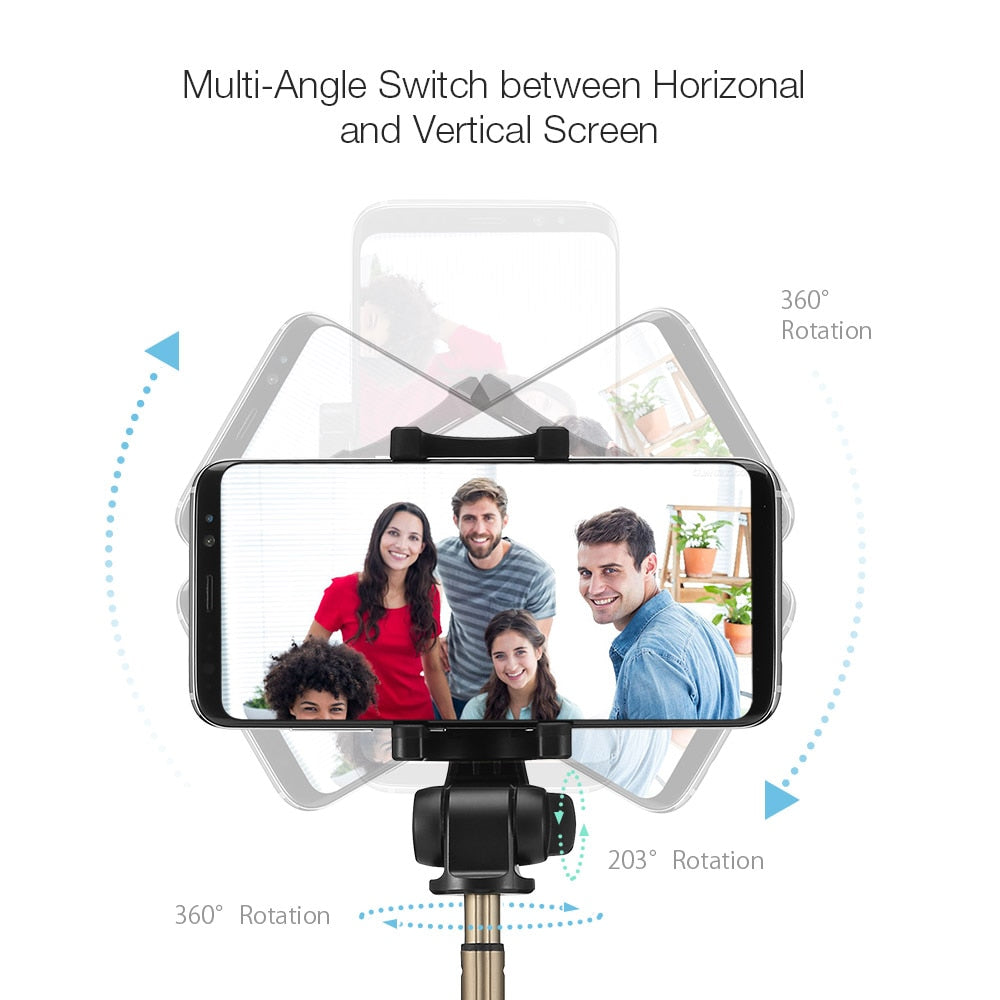 3 in 1 Wireless Bluetooth Selfie Stick For iPhone & Samsung Galaxy
