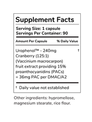 UTI Control 36PAC Cranberry Pills Supplement - Auto-refill