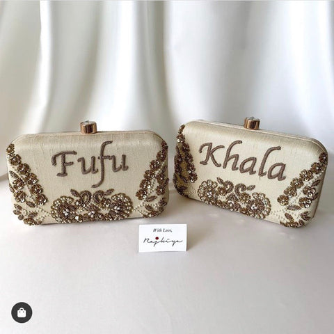 IVA Personalised Name Clutch