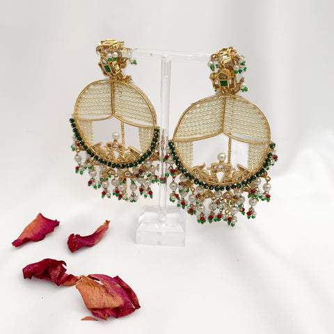 Palki Earrings (Green)