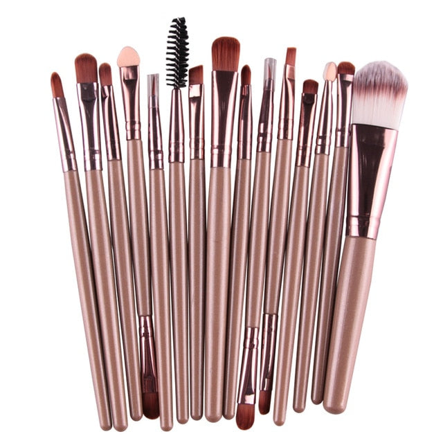 MAANGE Pro 15Pcs Makeup Brushes Set - Secret Beauties