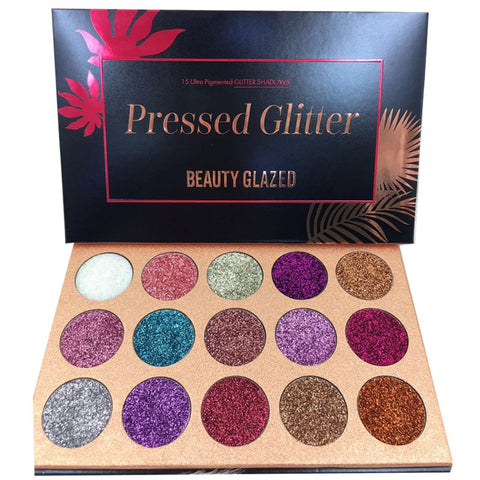 Image of BEAUTY GLAZED Pressed Glitter Eyeshadow Palette - Secret Beauties