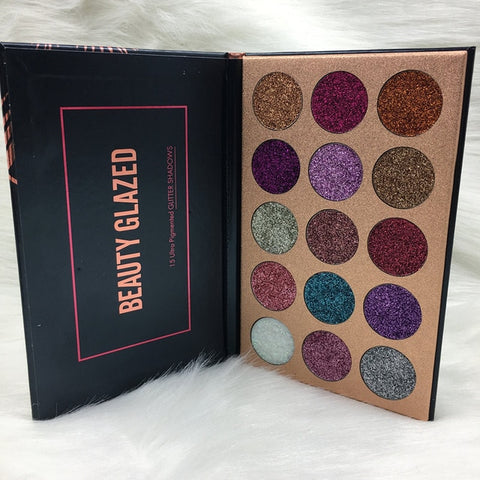 BEAUTY GLAZED Pressed Glitter Eyeshadow Palette - Secret Beauties