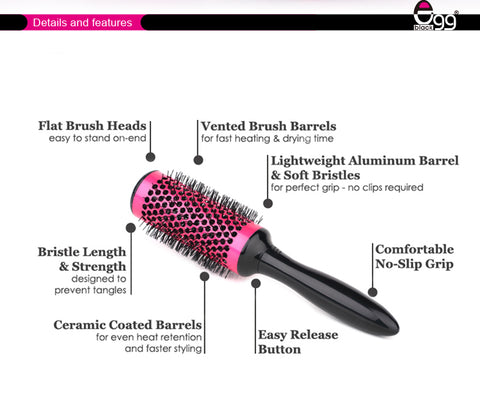Curl Round Styling Brush Tool Set - Secret Beauties
