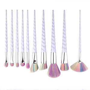 10 Pcs/1Set 2 color options Unicorn Eyeshadow Makeup Brushes - Secret Beauties