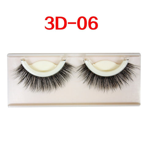 Image of Self-adhesive natural curly eyelashes - Secret Beauties