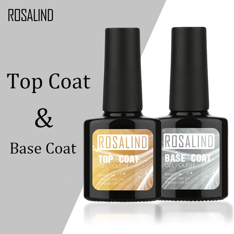 ROSALIND 10ML UV LED Soak-Off Base Coat Gel Nail Polish - Secret Beauties