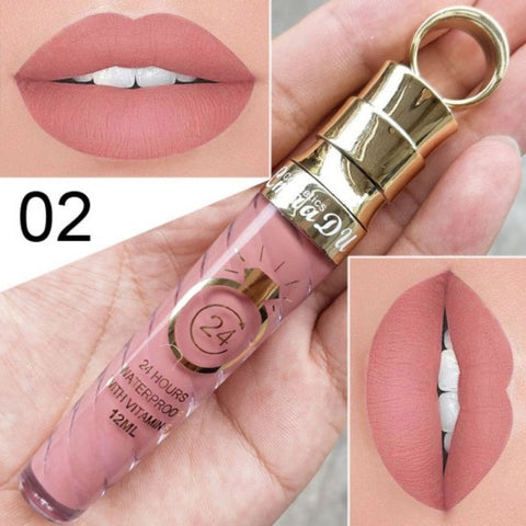 Waterproof Glitter Lip Gloss Lipstick - Secret Beauties