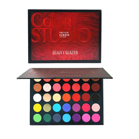 Image of Beauty Glazed 35 Color Glitter Shimmer Eyeshadow Palette - Secret Beauties