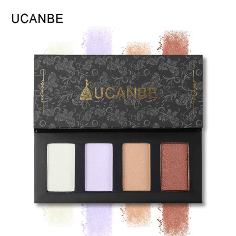 UCANBE 4 Colors Glow Highlighter Palette - Secret Beauties