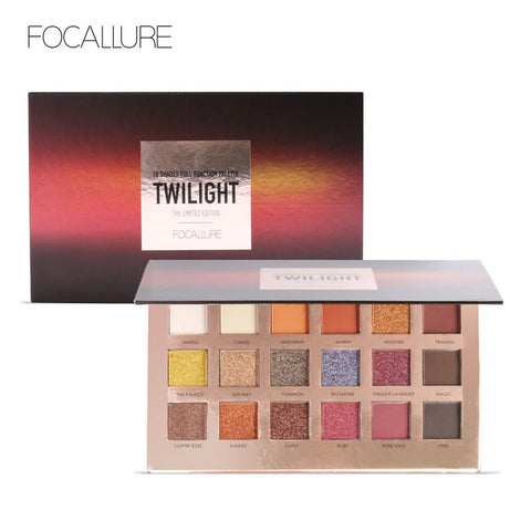 FOCALLURE 18Pcs Highly Pigmented Matte Glitter Eyeshadow Palette - Secret Beauties