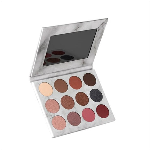 12Color Glitter Eye Shadow Palette - Secret Beauties