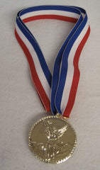MEDAL ON NECK RIBBON