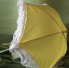 NYLON PARASOL WITH LACE