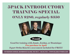 April Introductory Training Special