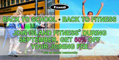 Return to fitness in september with half off