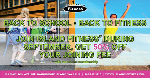 September 2018 get 50% off Your Joining Fee